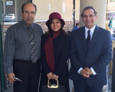 Dr. Antonio Jellini, Omid Sayareh and his wife, Elham